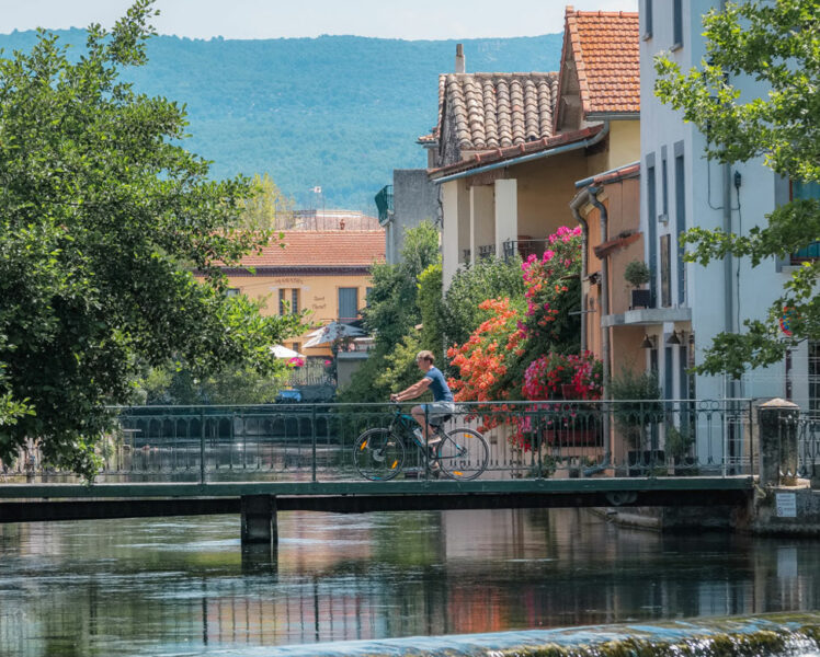 Vélo à l'Isle sur Sorgue @ Verneuil