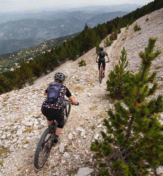 Vtt au Mont Ventoux